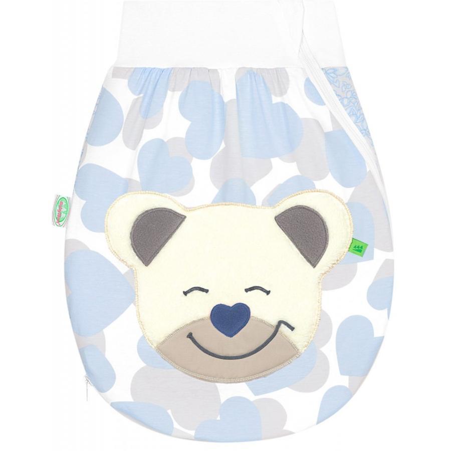 odenwälder Jerseyschlafsack Mucki® air, smart hearts light blue
