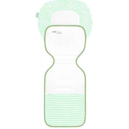 odenwälder Sommer Kinderwagenauflage ergonomisch Babycool, Stripes Neon Mint