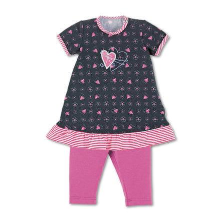 Sterntaler Babykjole med leggings marine