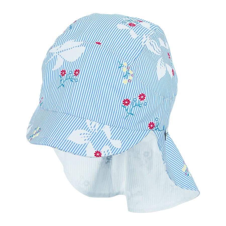 Sterntaler Schirmmütze mit Nackenschutz himmelblau