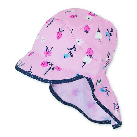 Sterntaler Gepiekerde muts met nekbeschermer roze