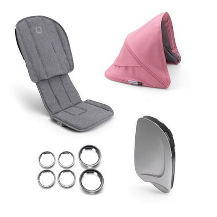 bugaboo Style Set Ant Grey Melange/Pink Melange