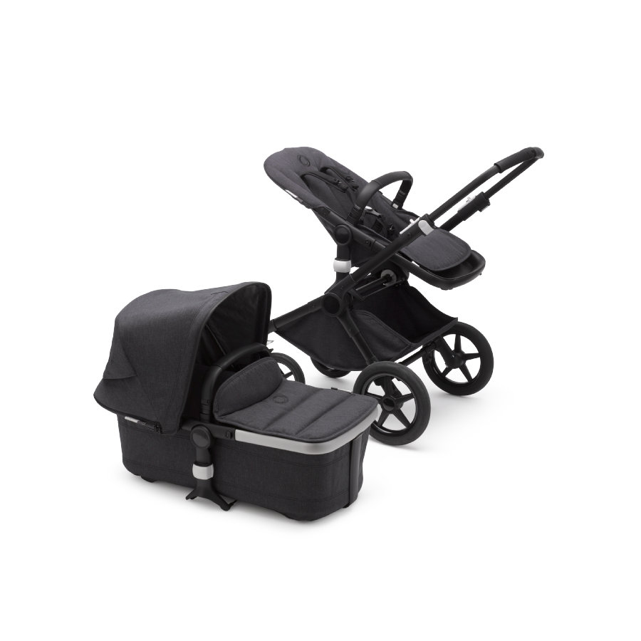bugaboo Kombikinderwagen Fox 2 Complete Mineral Black/Washed Black