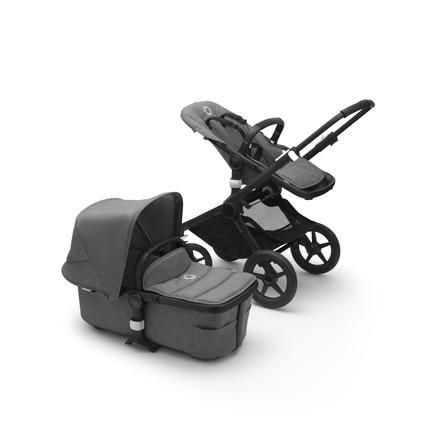 bugaboo Kombination Fox barnvagn 2 Svart / Grå Melange