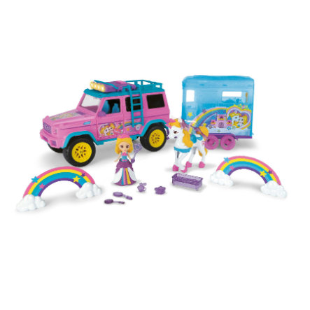 DICKIE Toys Pink Drivez Yksisarvinen Traileri