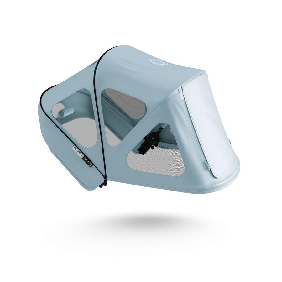 bugaboo Zonnekap met ventilatievensters Breezy Donkey 3 Vapor Blue