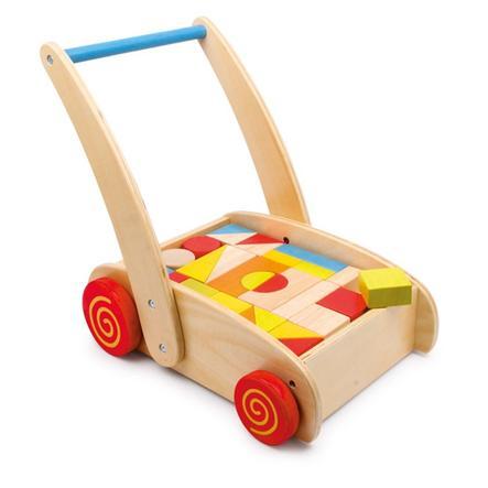 small foot® Chariot de marche enfant cubes bois 2695