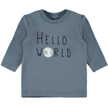 name it Langermet skjorte NBMFESTA porselen blå pinkorblue.no