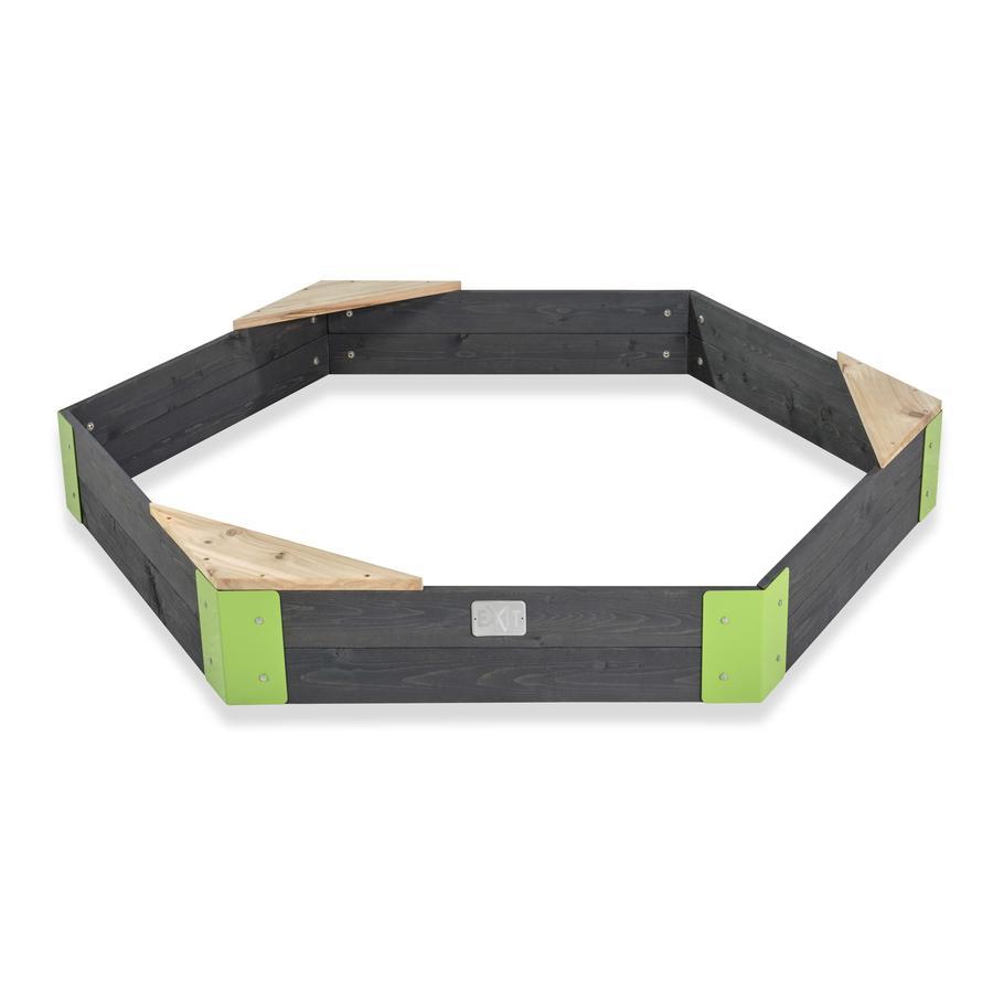 EXIT dřevo sand box Aksent šestihranný, 160 x 140 cm
