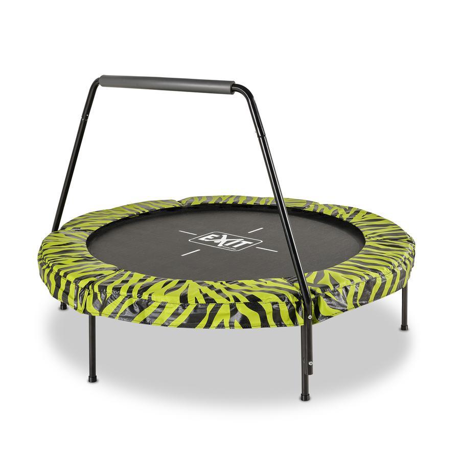 EXIT Tiggy junior trampolin med styr ø ø 40 cm, sort / grøn