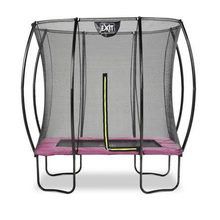 EXIT Trampoline à pieds rectangulaire Silhouette 153x214 cm, rose