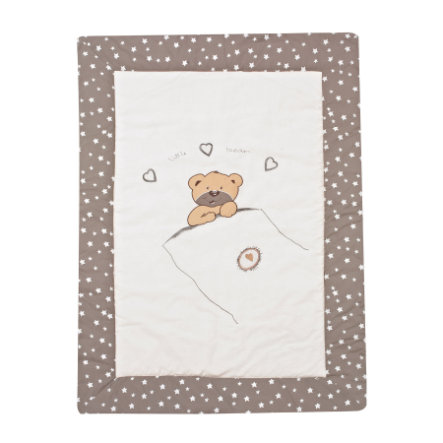ALVI Krabbeldecke Applikation - little bear beige 100x135
