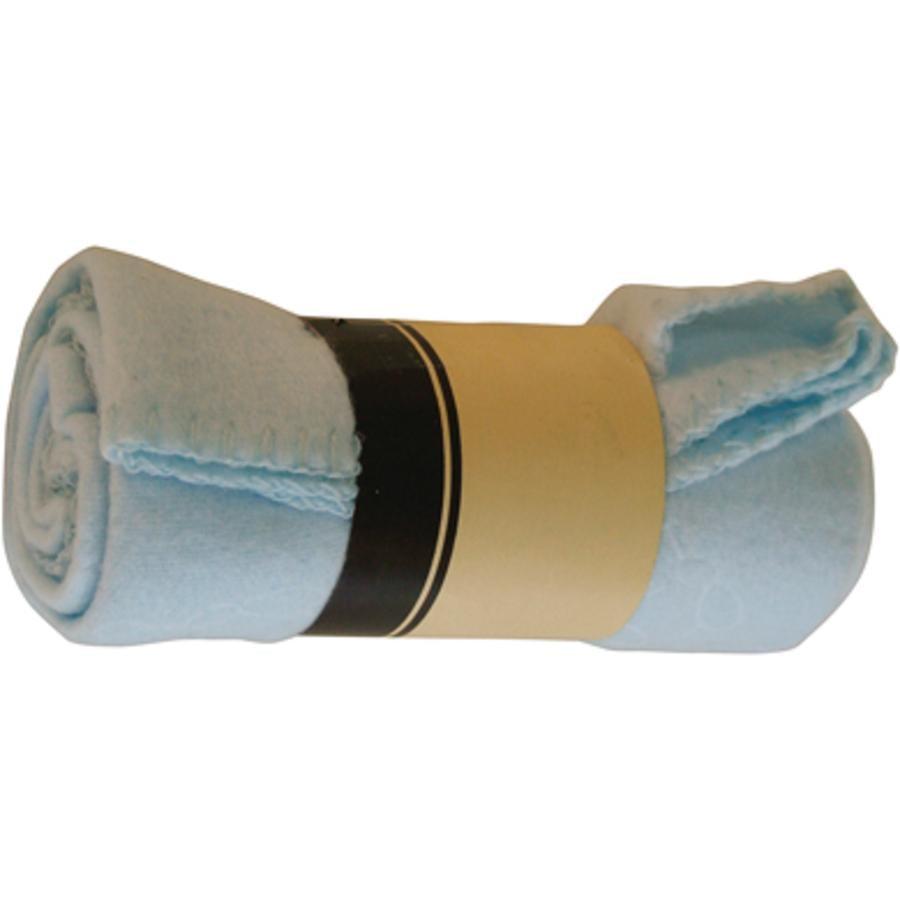 BIECO Couverture brodée, bleu 75 x 100 cm