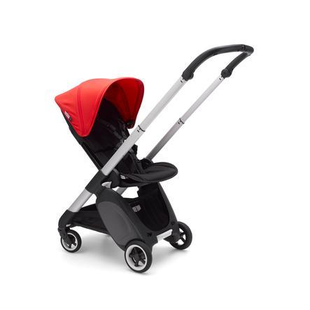 Bugaboo barnevogn inkl. tilbehørssæt Alu / Sort-Neon Red