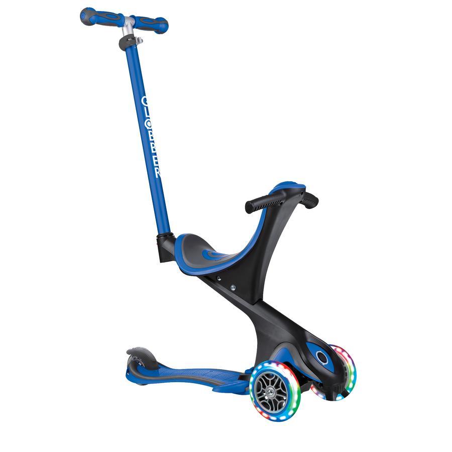 Globber Scooter EVO COMFORT LIGHTS 5in1, navy-blau