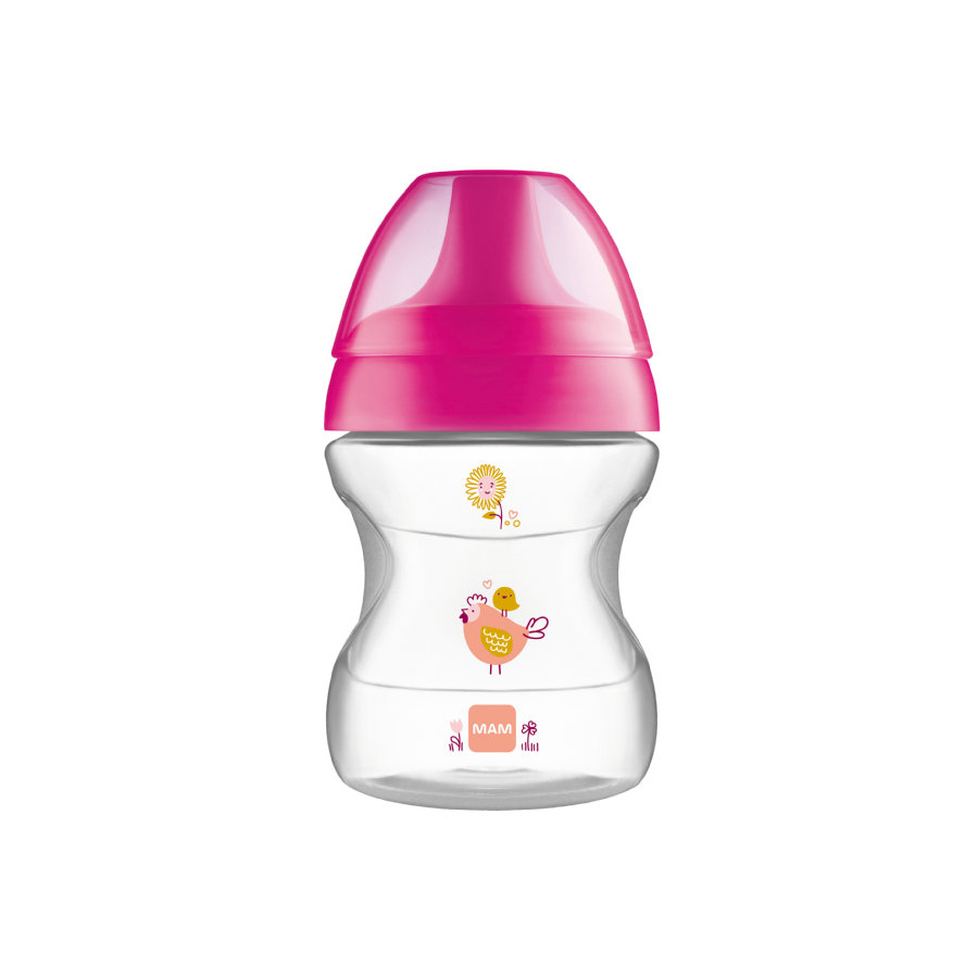 MAM Butelka do picia 270ml Learn to Drink Cup Fashion pink 190 ml