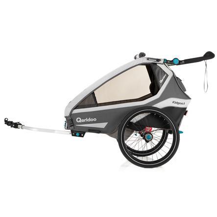 Qeridoo® Remorque vélo enfant Kidgoo1 grey 2020