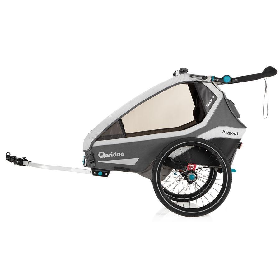 Qeridoo® Przyczepka rowerowa Kidgoo1 Grey