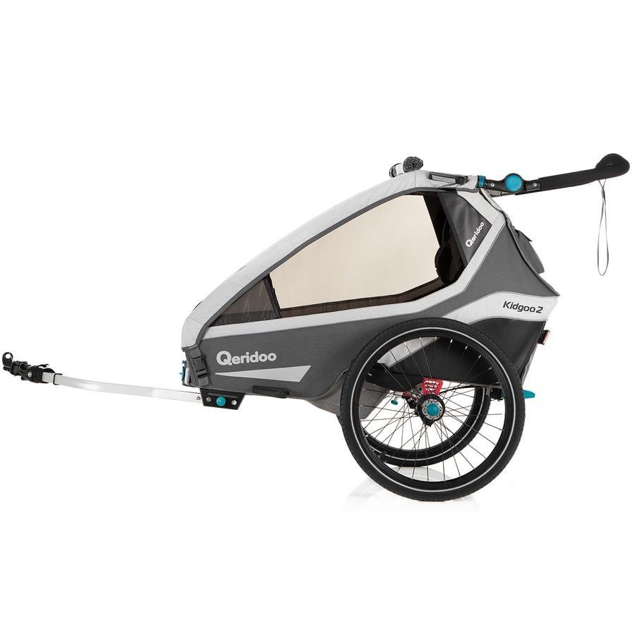 Qeridoo® Remorque vélo enfant Kidgoo2 grey 2020