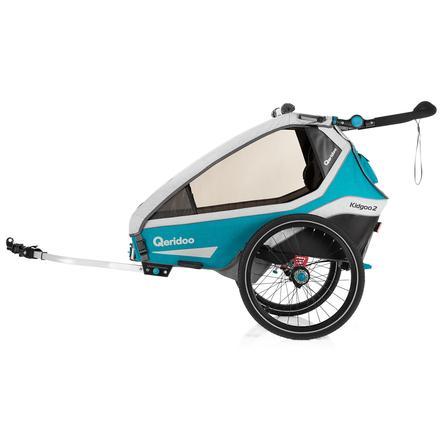 Qeridoo ® Remolque de bicicletas para niños Kidgoo2 Petrol