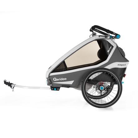 Qeridoo ® Przyczepka rowerowa Kidgoo 1 Sport Grey