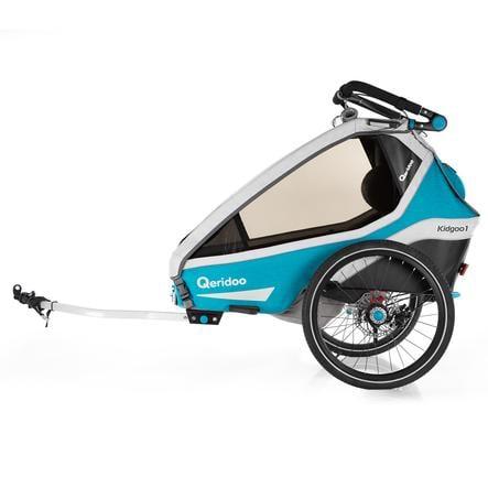 Qeridoo ® Remolque de bicicletas para niños Kidgoo1 Sport Petrol