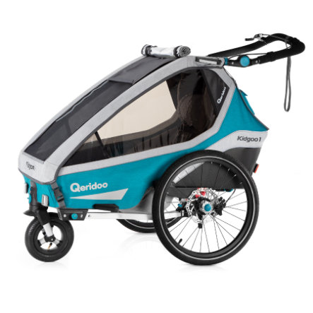Qeridoo® Remorque vélo enfant Kidgoo1 Sport petrol 2020