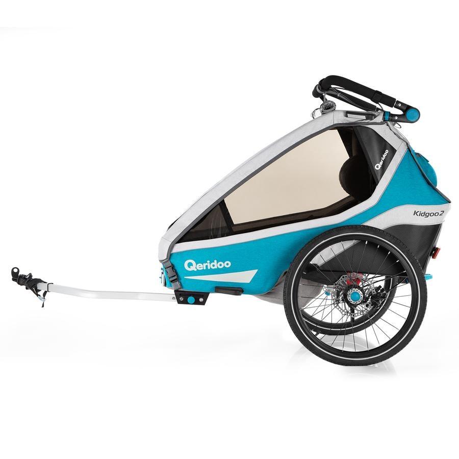 Qeridoo® Kinderfahrradanhänger Kidgoo2 Sport Petrol