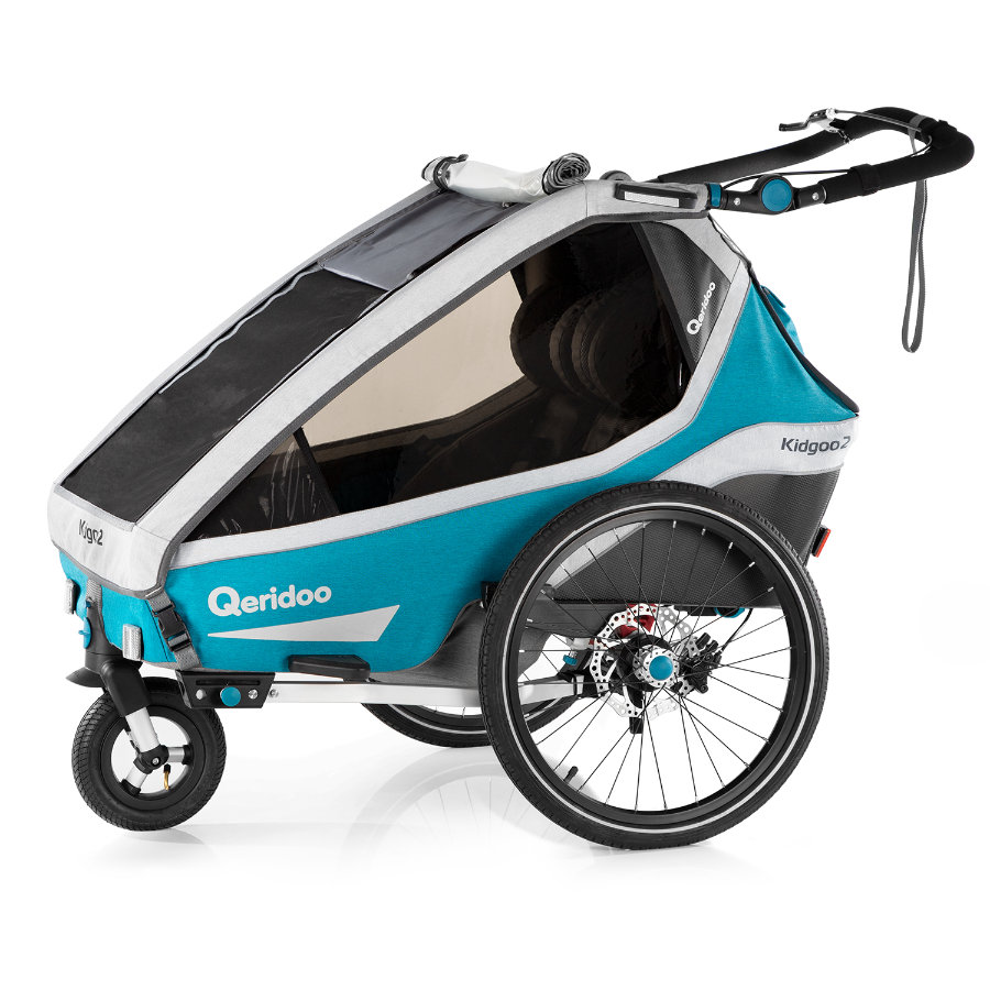 Qeridoo ® Przyczepka rowerowa Kidgoo2 Sport Petrol