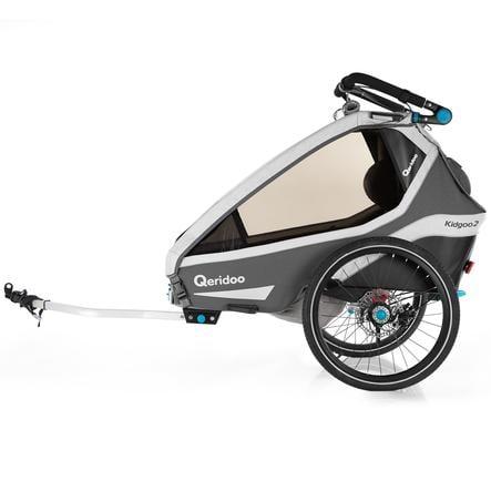 Qeridoo ® Przyczepka rowerowa Kidgoo2 Sport Grey