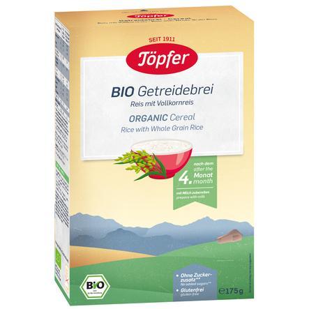 Töpfer Bio Getreidebrei Reis mit Vollkornreis 175 g nach dem 4. Monat