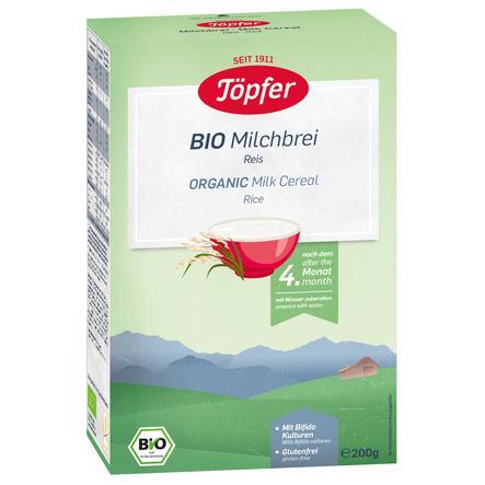 Töpfer Bio Milchbrei Reis 200 g nach dem 4. Monat