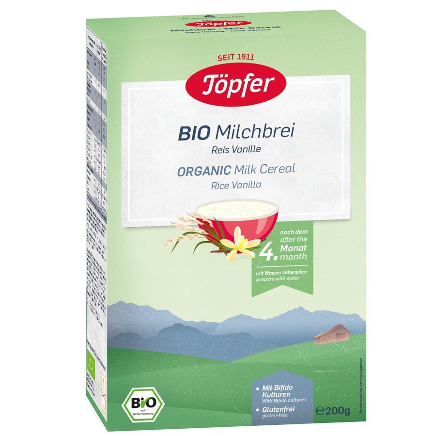 Töpfer Bio Milchbrei Reis Vanille 200 g nach dem 4. Monat