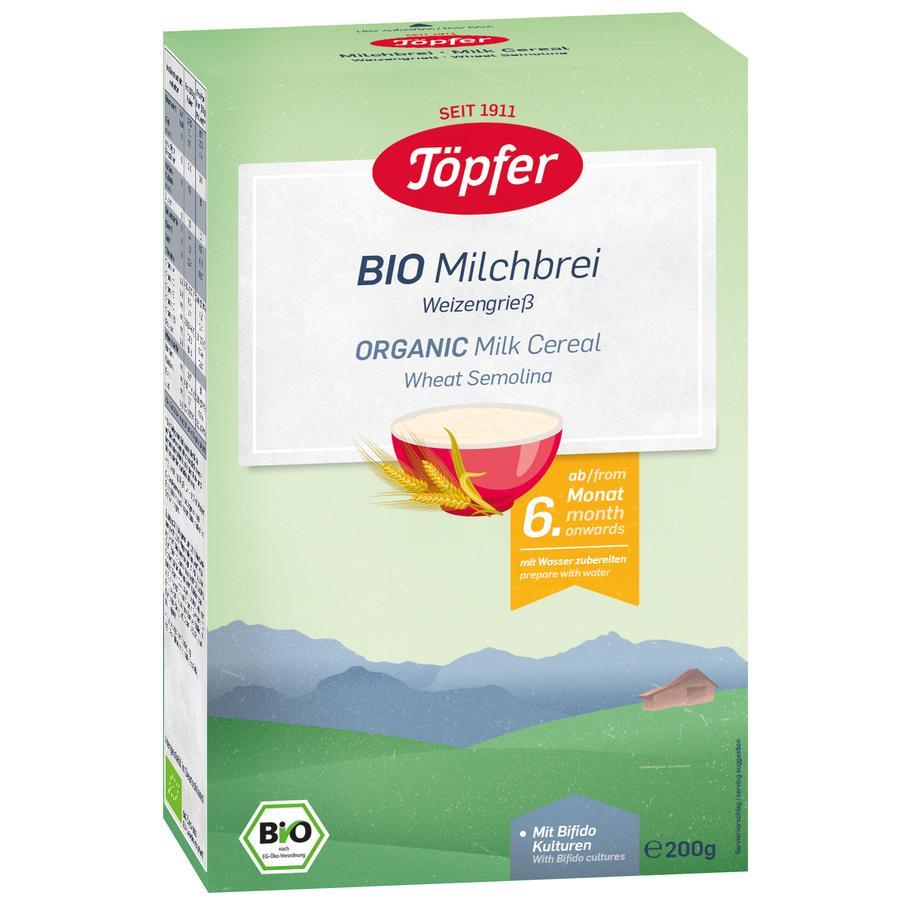 Töpfer Bio Milchbrei Weizengrieß 200 g nach dem 6. Monat