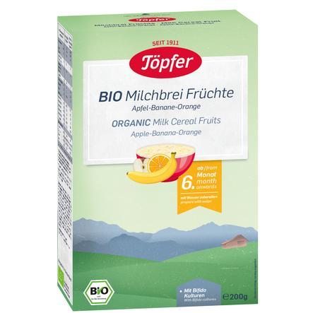 Töpfer Bio Milchbrei Früchte 200 g ab dem 6. Monat