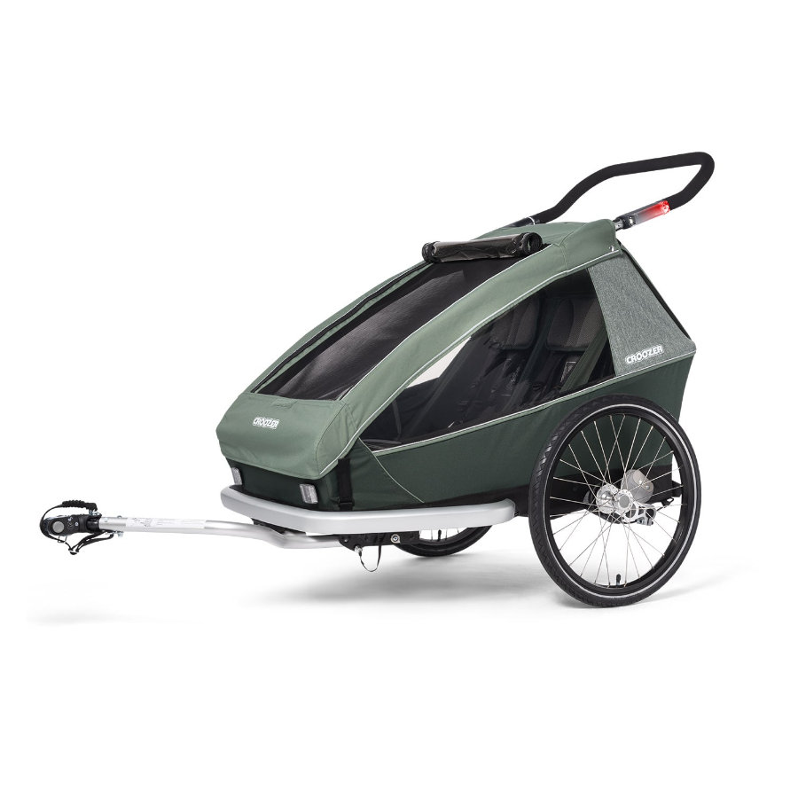 CROOZER Kinderfahrradanhänger Kid Vaaya 2 Jungle green