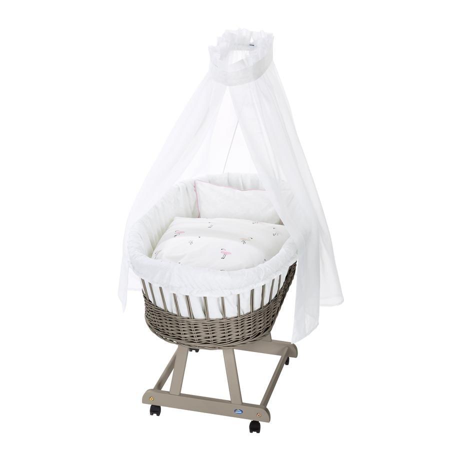 Alvi ® Complete buiswagen Birth e taupe, Flamingo