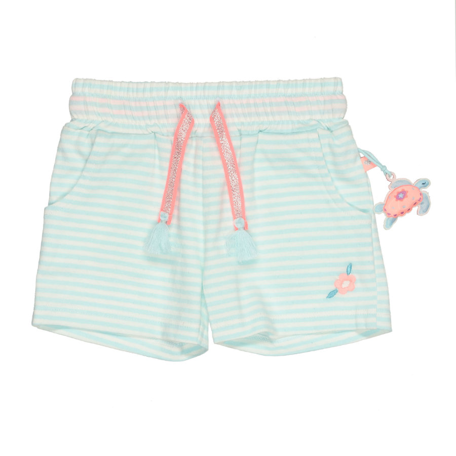 STACCATO Shorts turkis stripete