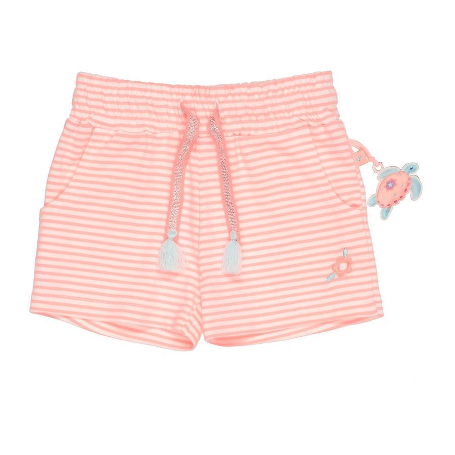 STACCATO Shorts neon papaya gestreift