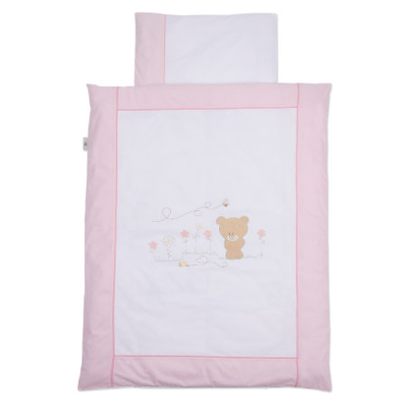 Easy Baby Draps de lit 100x135cm Honey bear rose (410-42)