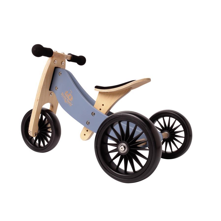 Kinderfeets® 2-i-1 trehjulssykkel Tiny Tot Plus, blå