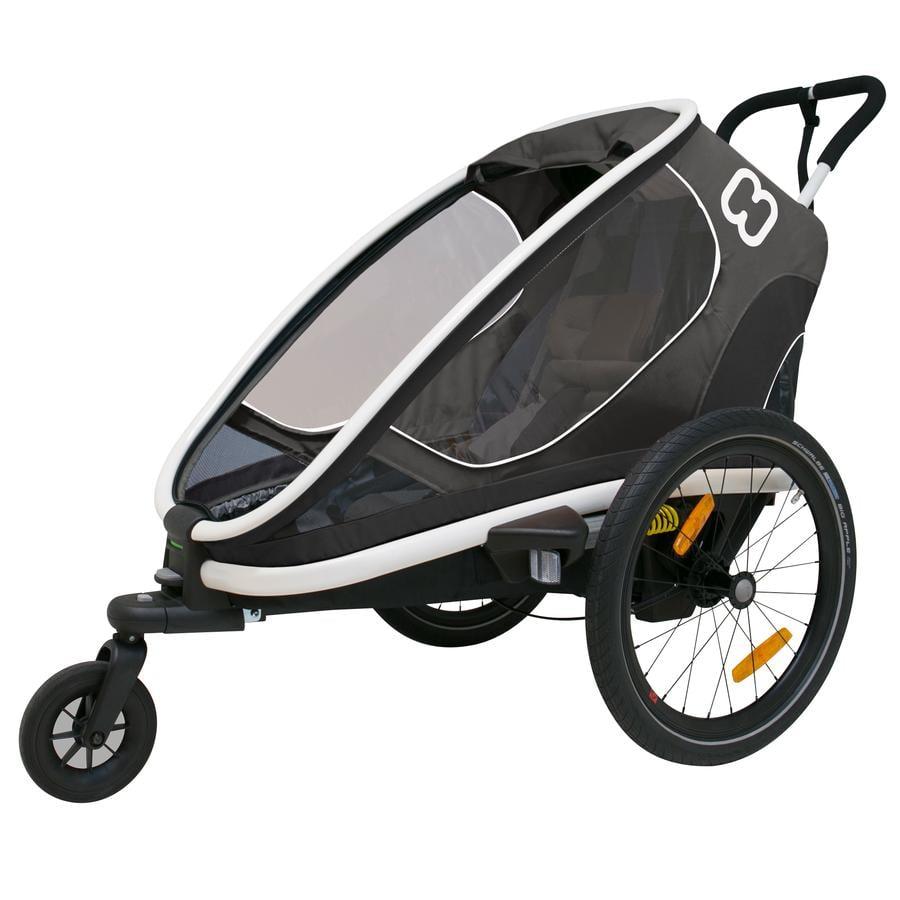 hamax Rimorchio per bici Outback ONE con regolazione dello schienale, grigio