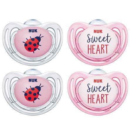NUK tutti Vapaa tyyli silikoni koko 2 vaaleanpunainen 4 kappaletta 6. kuusta