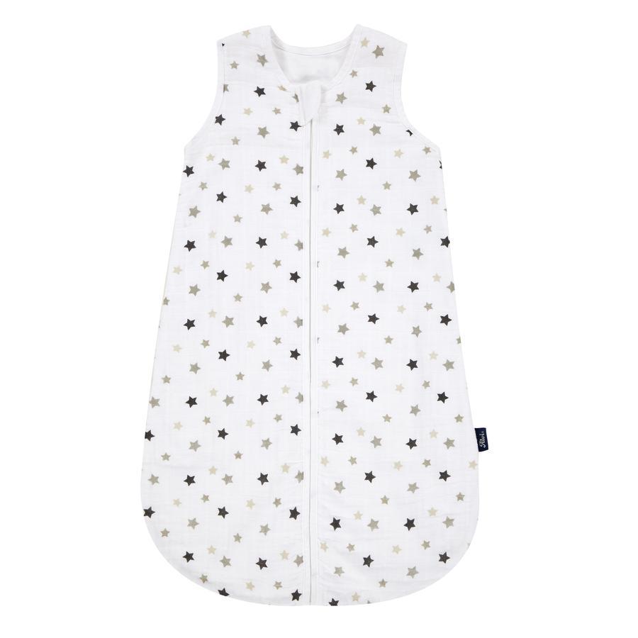 Alvi® Gigoteuse bébé mousseline étoiles gris TOG 0.5