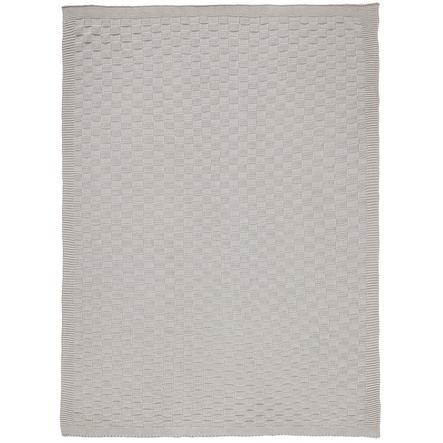 Alvi® Couverture enfant tricot carreaux gris 75x100 cm