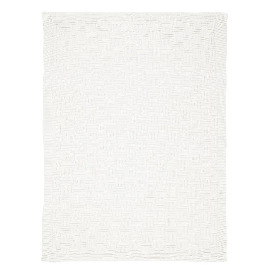 Alvi Strikket tæppe hvid 75 x 100 cm