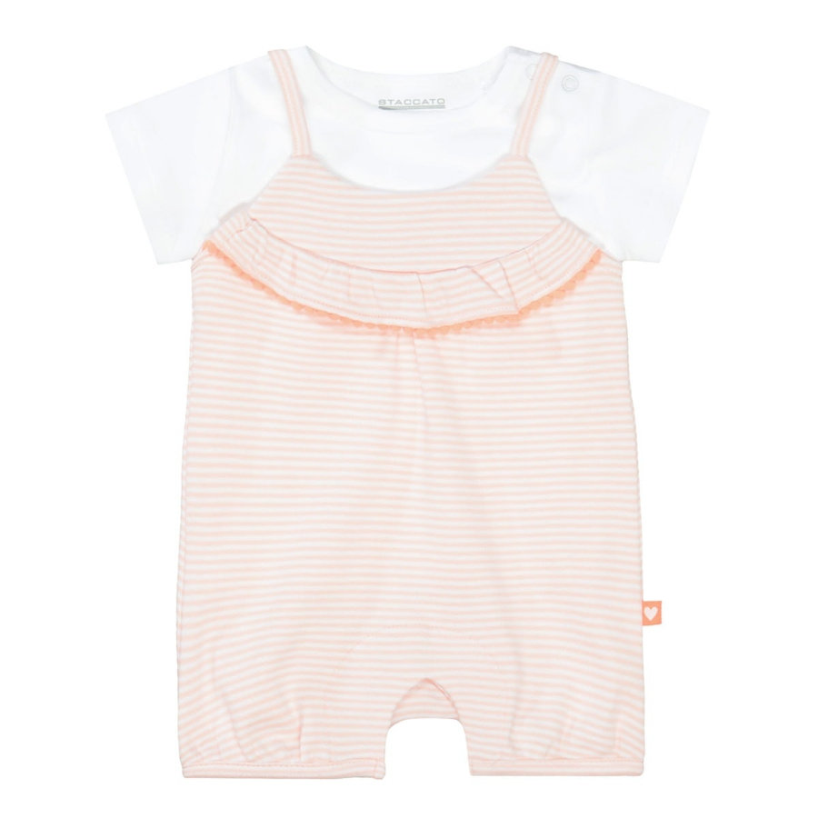 STACCATO  grenouillère+chemise à rayures souples peach