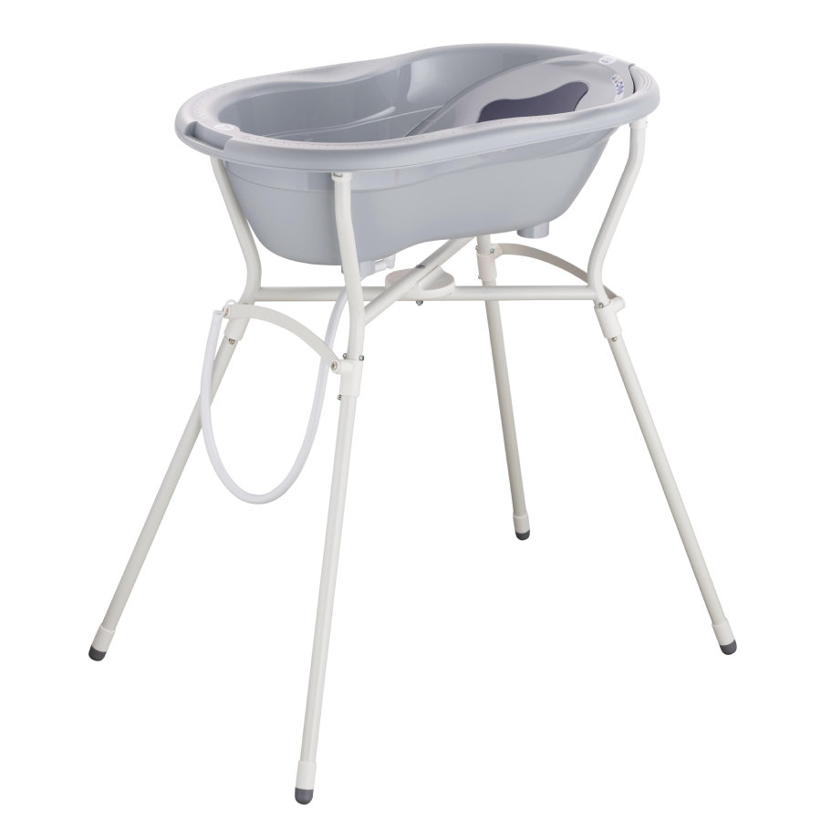 Rotho Baby design TOP Kylpysetti 4-osainen kylpyammetelineellä harmaa