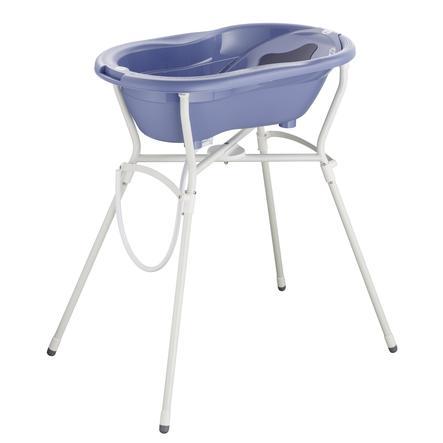 Rotho Babydesign Set de bain baignoire bébé et support TOP 4 pièces cool blue