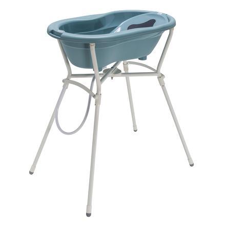 Rotho Baby TOP 4dílná Sada pro péči o dítě s koupelovým stojanem, lagunová